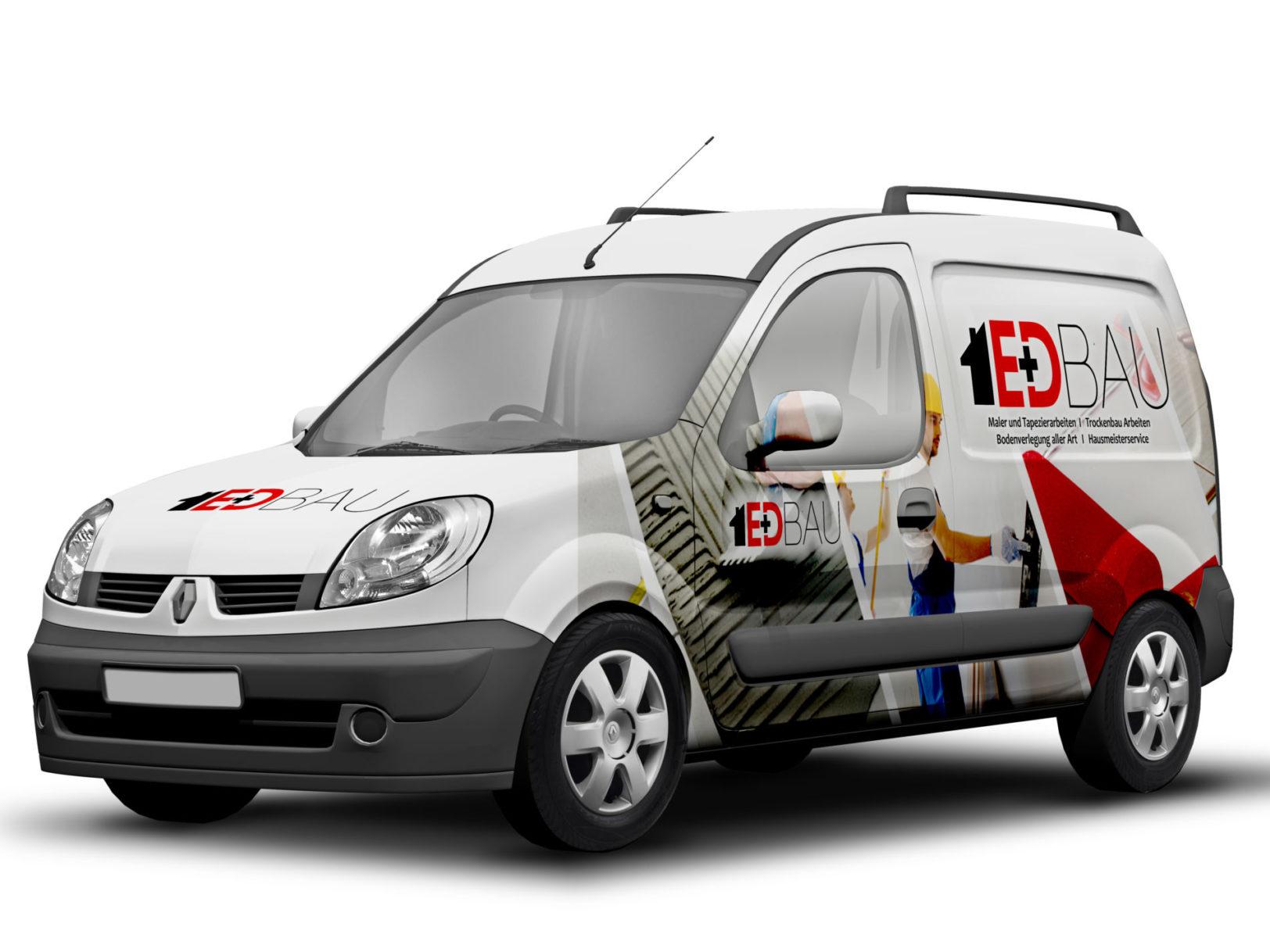 EplusD-Bau-Firmenfahrzeug-beklebung-triumph-agentur