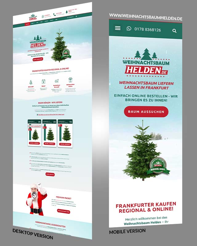 Weihnachtsbaum Helden Webdesign Frankfurt Triumph Agentur