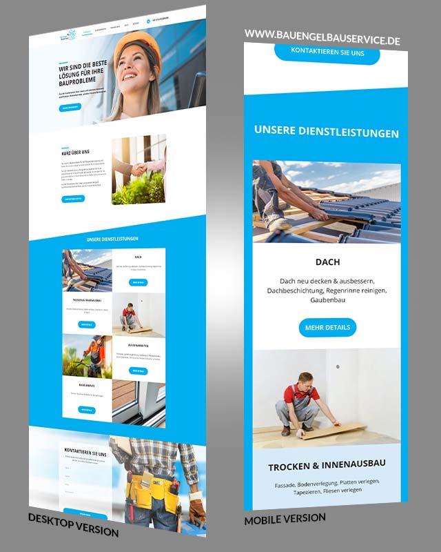 Beispiel einer von uns erstellten Webseite von einer Firma aus Dreieich aus dem Bau Bereich