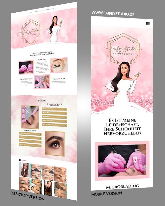 Webdesign einer Beauty Webseite aus Kronberg