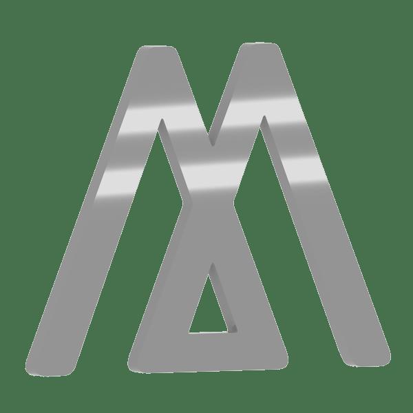 Plexiglas 3D Buchstabe in Grau