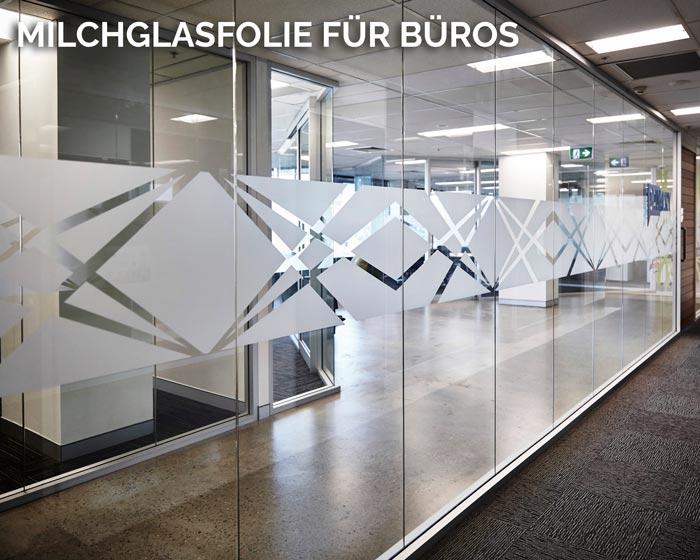 Milchglasfolie in Frankfurt für Büros Triumph Agentur