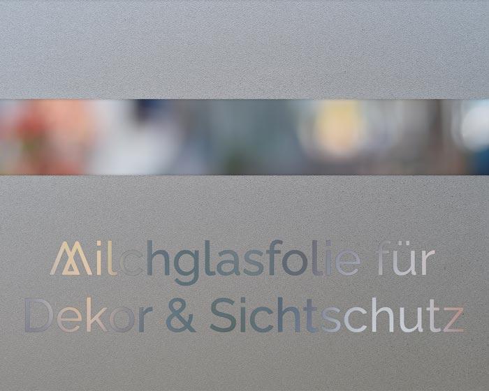 Milchglasfolie Dekor & Sichtschutz in Frankfurt Triumph Agentur