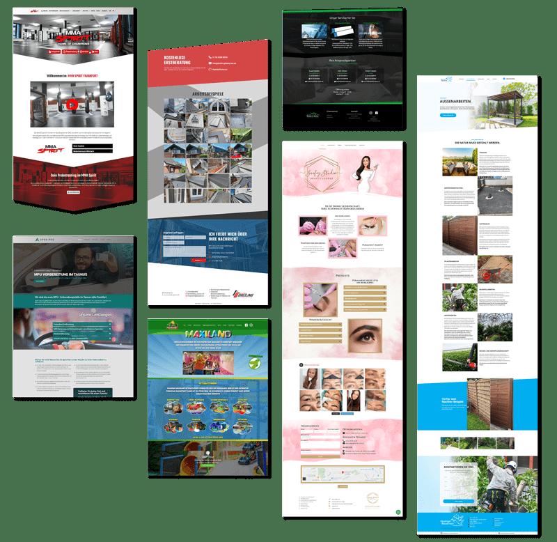 Webdesign erstellte Webseiten Beispiele in Frankfurt von Triumph Agentur